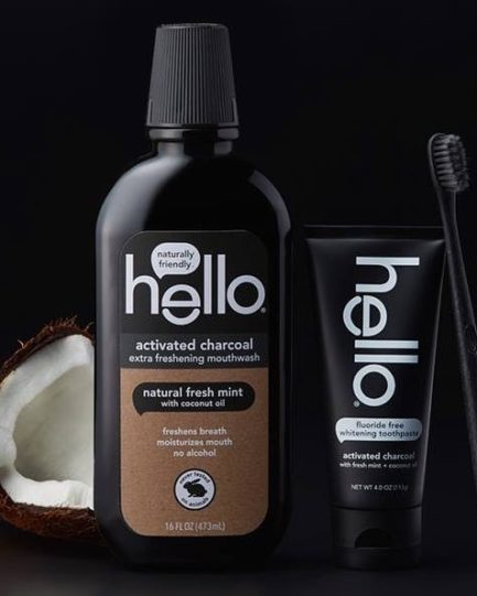Hello - Activated Charcoal Extra Freshening Mouthwash